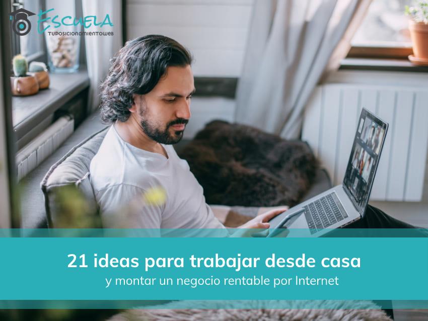 ideas para trabajar desde casa por Internet